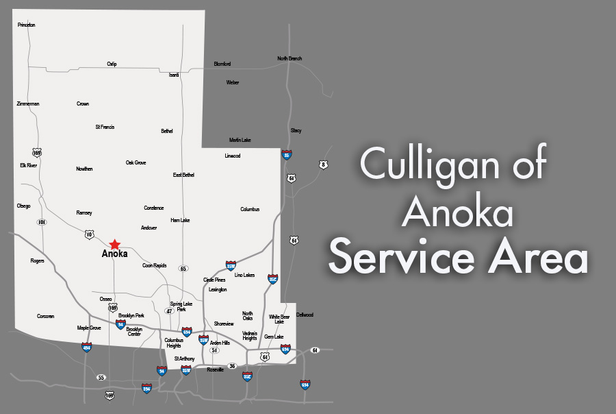 Service Area for Culligan of Anoka